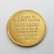 Bpoe Elks Club Coin Exalted Rulers Good Luck Administration Grand Lodge