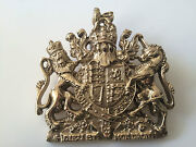 Royal Coat Of Arms Brass Sign Plaque Royal Crest Wall Hanger Armorial Plate