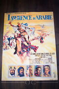 Lawrence Of Arabia 24 X 32 French Moyenne Fold Movie Poster Original 1962