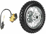 12 Rear Tire Rim 80/100-12 With Disc Rotor Sprocket Brake Assembly Pitbike Dirt