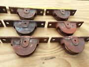 Vintage Metal 4.5 Sash Window Cord Pulley Wheel System 9 Available