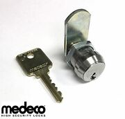 Medeco High Security Universal Fit Cam Lock,1-1/8 Inch Body Length With 2 Keys