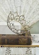 Rare Large Collectible Antique Vintage Rhinestone Presentation Pageant Crown