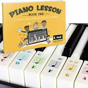 Color Piano And Keyboard Stickers And Color Note Piano Music Lesson Book