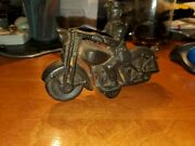 Vintage Harley Miniature Motorcycle Cast Iron Toy Vintage Police 6 Free Ship Us