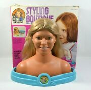 Vtg 1977 Bionic Woman Styling Boutique Jamie Sommers Head With Box Ex Rare
