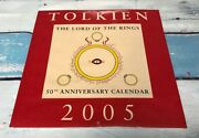 2005 Lord Of The Rings Tolkien 50th Anniversary Calendar Harper Collins New Pkg