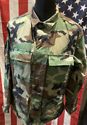 Genuine Us Army Woodland Camouflage Bdu Lightweight Ripstop Jacket Various Sizes