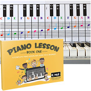 Piano And Keyboard Note Chart And Color Note Piano Music Lesson Book For Kids