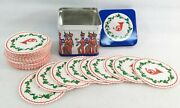 Small Toy Soldiers Christmas Tin W/matching Paper Coasters
