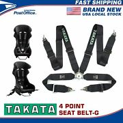 Takata 4 Point Snap-on 3 With Camlock Racing Seat Belt Harness Black Us Ships