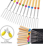 Ezire Roasting Sticks Marshmallow Roasting Sticks Set Of 10 Barbeque Bbq