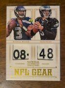 2012 National Treasure Nfl Rookie Gear Dual Tag Russell Wilson Nick Foles /49 Rc