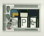 2005 Classic Clippings Hank Aaron Ted Williams Roberto Clemente Triple Patch /25