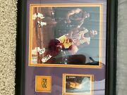 Kobe Bryant Authentic Signed 9x8.5 Photo. Card And Pin Included In Frame.lakers