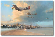 Towards The Home Fires By Robert Taylor - P-51k Scat Vi - Aviation Art - Col Ed