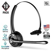 Delton Wireless Headset With Mic | Bluetooth Headphone For Call Center - 10 Pack