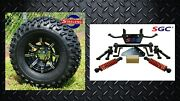 Yamaha Golf Cart G29 The Drive 6 Lift Kit + 10 Wheels And 22 A/t Tires