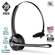 Delton Wireless Headset With Mic | Bluetooth Headphone For Call Center - 20 Pack