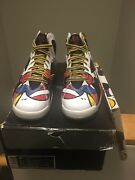 Air Jordan 7 Miro Barcelona 1,000 Pairs Made With Lace Pack In Men's Size 9
