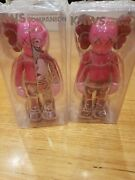 Kaws Companion Pair Set Of 2 Open Edition Blush Red Sold Out Normal And Flayed