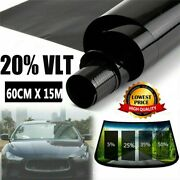 20 Vlt 24 In X 50and039 Ft Feet Car Uncut Roll Window Tint Film + Professional Tool