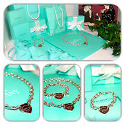 Chic- And Co. Bracelet And Necklace Heart Shape Set/lot