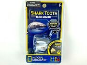 National Geographic Shark Tooth Mini Dig Kit Genuine Fossil Stem New