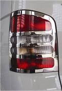 Chrome 2dr Rear Tail Light Trim Covers To Fit Volkswagen T5 Transporter 03-15