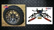 Yamaha Golf Cart G29 The Drive 6 Lift Kit + 14 Wheels And 23 A/t Tires