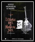 Nightmare Before Christmas D 4x6 Ft French Grande Movie Poster Original 1993