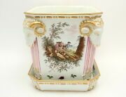 Fine Antique French Marseille Faience Pottery Planter And Dish