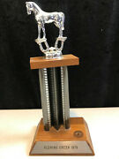 Vintage Gc Marked Metal Grand Champion Mare Horse Trophy Fleming Creek 1970