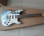 Custom Silver Powder Blue Electric Guitar Hand-made Electric Free Shipping