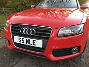 S5 Wle Audi A5 Or S5 Personalised Registration Reg Plate Cherished Private