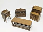Vintage Doll House Wooden Furniture Set Taiwan Republic Of China