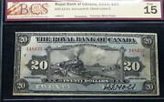 Famous Train Banknote - 1913 20 Royal Bank Of Canada - Chartered Banknote