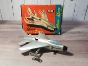 Schuco Micro Jet Super-sabre F-100 Key Wind Up W/box 1032 Air Force Plane Toy