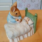 Vintage Coin Bank, The World Of Beatrix Potter Peter Rabbit And Mrs. Rabbit 1994