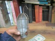 Drop Light Wire Cage Reflector And Hook Trouble Light Vintage Work Shop Steampunk