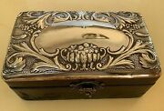 Antique Xix Century Masriera And Carreras Sterling Silver And Wood Box