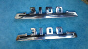 1940and039s-50and039s Chevy Truck Parts 3100 Fender Emblems Trim Original Vintage