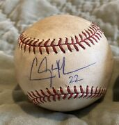 Clayton Kershaw Dodgers 2013 Cy Year Game Used Pitched Auto Ball Mlb Holo Auth