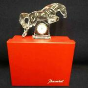 Baccarat Hose Table Clock Crystal Good Condition