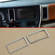 For Toyota Sienna 2015-2020 Interior Dashboard Air Vent Cover Trims Surrounds