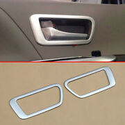 For Toyota Sienna 2011-2020 Matte Chrome Interior Door Handle Cover Trims