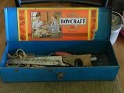 Boy Craft Usa Tool Box And Tools Vintage Rare Blue Box
