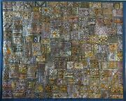Spectacular Handmade Vintage Rajasthani Patchwork Tapestry Wall-hanging