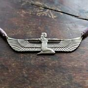 Vintage Laurel Burch Isis Egyptian Revival Necklace On A Cord Museum Of Jewelry