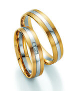 Pair Wedding Rings Engagement Rings Gold Diamond With